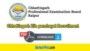 Chhattisgarh Zila panchayat Recruitment 2020