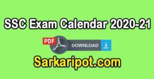 SSC Exam Calendar 2020-21 PDF Download