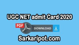 Download UGC NET admit Card 2020