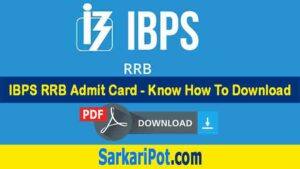 IBPS RRB Admit Card 2020 Download